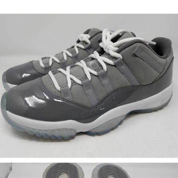 low top gray jordans